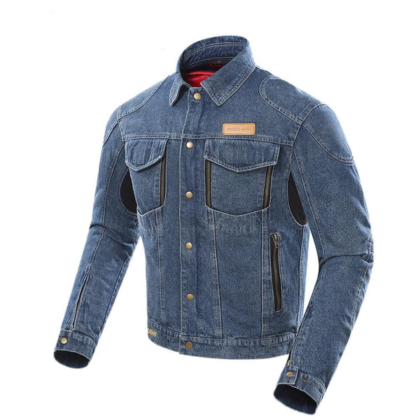 Motocross Casual Protective Denim Jacket D-207 - Pride Armour