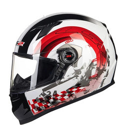 LS2 FF358 White Full Face Motorcycle Helmet