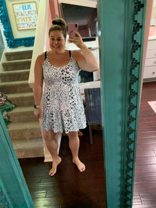 White Leopard Tiered Tunic/Dress