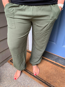 Army Green Joggers