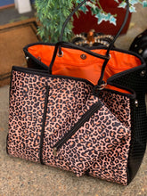 Load image into Gallery viewer, Leopard Neoprene Tote Bag and Pouch
