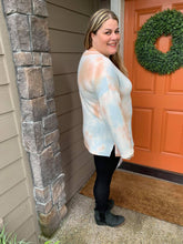 Load image into Gallery viewer, Soft Tie Dye V-Neck Pastel Mix Tunic