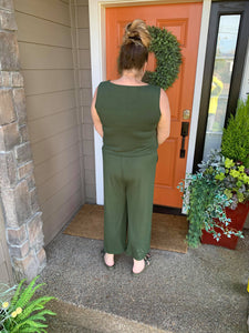 Army Green Tank Jumpsuit