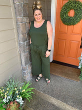 Load image into Gallery viewer, Army Green Tank Jumpsuit