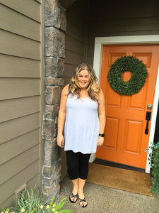 Heather Grey V-Neck Tank Tunic