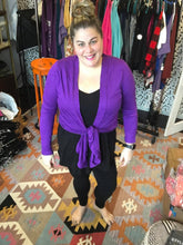 Load image into Gallery viewer, Purple Drapey Cardigan