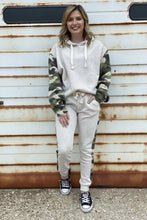 Load image into Gallery viewer, Beige Camo Jogger Set