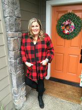 Load image into Gallery viewer, Buffalo Plaid Front Pocket Cardigan