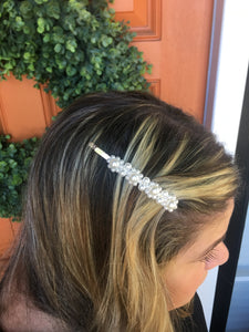 Medium Pearl Beaded Hair Clip