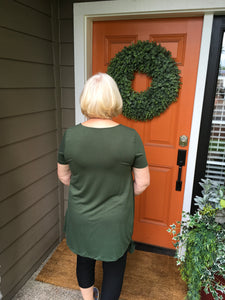 Army Green Tunic with Side Tie