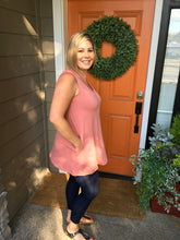 Load image into Gallery viewer, Rose Pink V-Neck Tunic w/Pockets