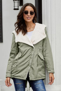 High Low Sherpa Jacket
