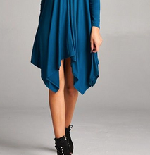 Load image into Gallery viewer, Teal Double V Tunic/Dress