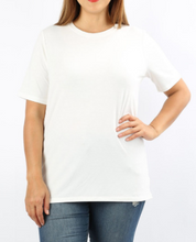 Load image into Gallery viewer, White Round Neck T-Shirt