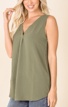 Load image into Gallery viewer, Light Olive Sleeveless Tank