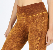Load image into Gallery viewer, Desert Mustard Mineral Washed Leggings