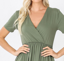 Load image into Gallery viewer, Light Olive Wrap Tunic/Dress