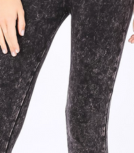 Load image into Gallery viewer, Charcoal Mineral Wash Leggings