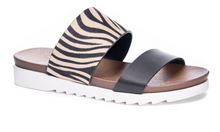 Load image into Gallery viewer, Black & Leopard Sandal
