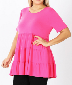Hot pink Tiered Tunic