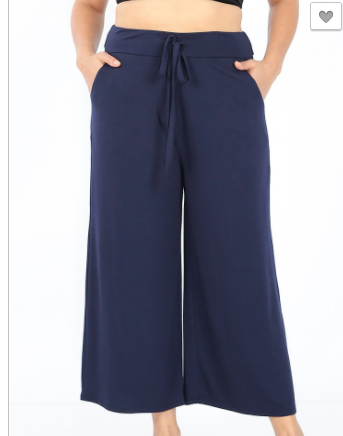 Navy Cropped Lounge Pants