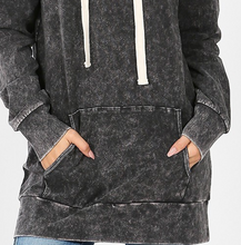 Load image into Gallery viewer, Charcoal Mineral Wash Hoodie