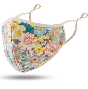 Floral Facemasks with Adjustable Ear Bands