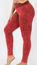 Load image into Gallery viewer, Cabernet Mineral Wash Leggings