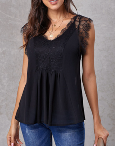 Black Lace Top w/Tank