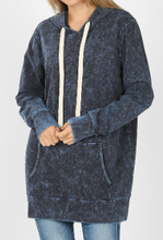 Load image into Gallery viewer, Sapphire Mineral Wash Hoodie