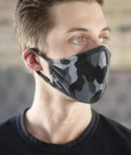 Load image into Gallery viewer, Grey Camo Facemask