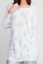 Load image into Gallery viewer, Faded Mint Boatneck Knit Tunic