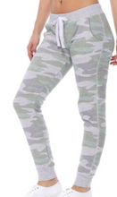 Load image into Gallery viewer, Green & Grey Camo Joggers