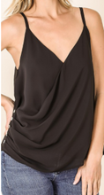 Load image into Gallery viewer, Black Chiffon Wrap Top