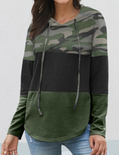 Load image into Gallery viewer, Camo Color Block Hoodie