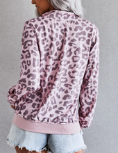Load image into Gallery viewer, Mauve Leopard Half Zip Sweatshirt