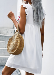 White Boho Babydoll Dress