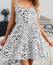 Load image into Gallery viewer, White Leopard Tiered Tunic/Dress