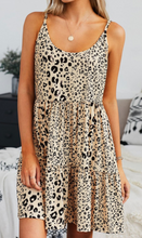 Load image into Gallery viewer, Apricot Leopard Tiered Tunic/Dress