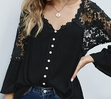Load image into Gallery viewer, Re-Order Black Lace Top