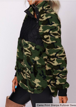 Load image into Gallery viewer, Camo Side Snap Pullover