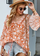Load image into Gallery viewer, Pre-Order Orange Boho Blouse