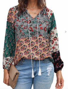 Multi Color Floral Blouse