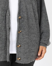 Load image into Gallery viewer, Charcoal Button Down Cardigan