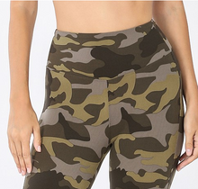 Load image into Gallery viewer, Camo Leggings w/Yoga Waistband