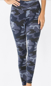 Camo Leggings w/Yoga Waistband