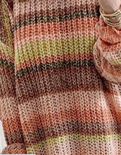 Load image into Gallery viewer, Orange Stripe Tunic Sweater