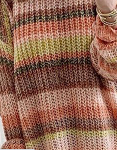 Orange Stripe Tunic Sweater