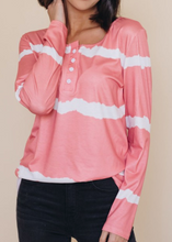 Load image into Gallery viewer, Pre-Order Tie-dye Buttoned Long Sleeve Top