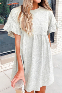 Pre-Order Gray Front Pocket Tunic/Dress